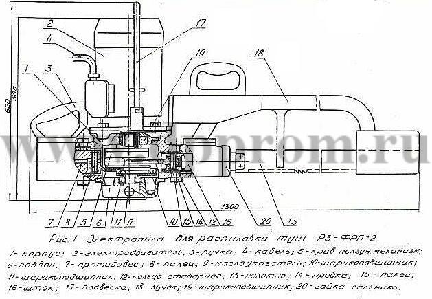 Кривошипно-шатунный механизм для пилы ФРП - фото 25088