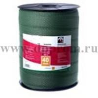 Провод для электроизгороди 40х200 лента зеленая - фото 28284