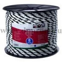 Провод для электроизгороди 8х200 шнур черно-белый