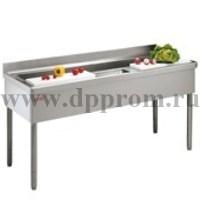Стол с ванной моечной для обработки овощей ANGELO PO 6TCN180