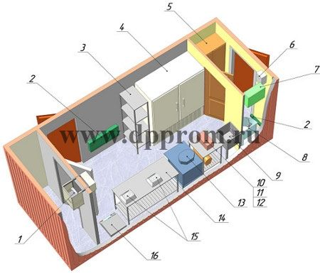 Модульный цех для фасовки красной икры ДПП-И - фото 38192