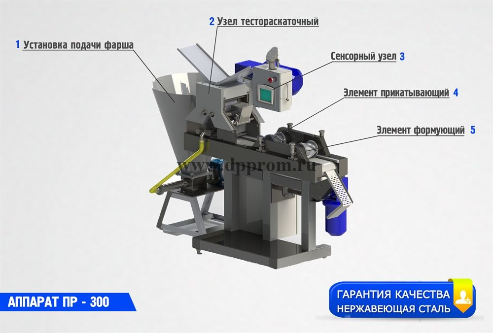 Аппарат для изготовления чебуреков и равиоли ПР-300 - фото 40609