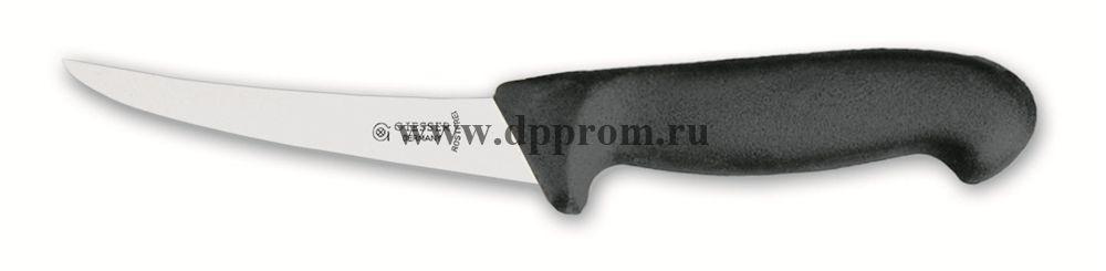 Нож обвалочный 2505 13 см, средней жесткости черный