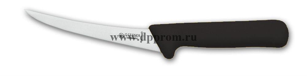 Нож обвалочный 2509 13 см, средней жесткости черный