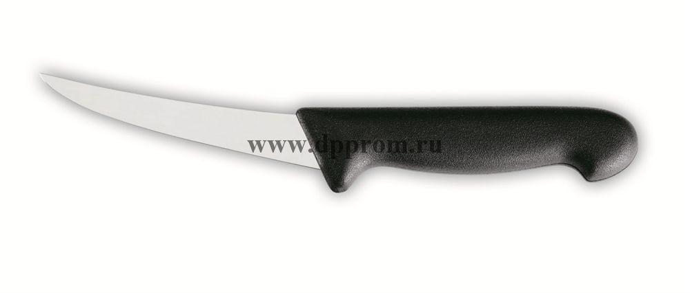 Нож обвалочный 2515 17 см, жёсткий черный