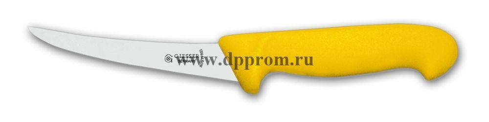 Нож обвалочный 2505 10 см, средней жесткости желтый