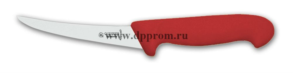 Нож обвалочный 2505 13 см, средней жесткости красный