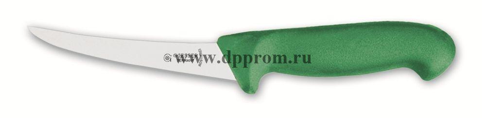 Нож обвалочный 2505 15 см, средней жесткости зеленый