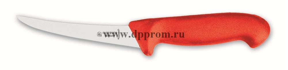 Нож обвалочный 2505 15 см, средней жесткости красный