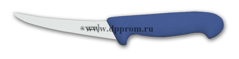 Нож обвалочный 2505 15 см, средней жесткости синий