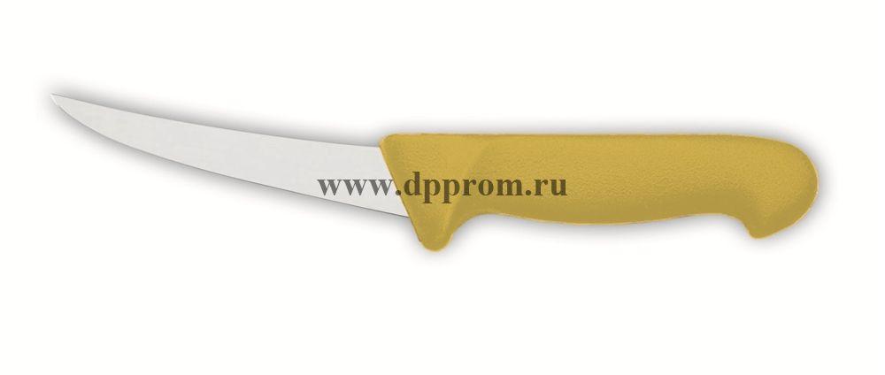 Нож обвалочный 2515 13 см, жёсткий желтый