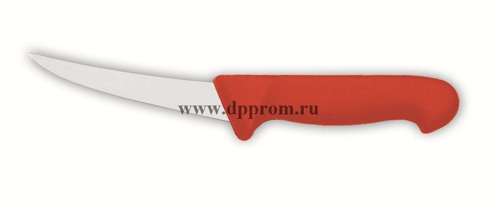 Нож обвалочный 2515 13 см, жёсткий красный