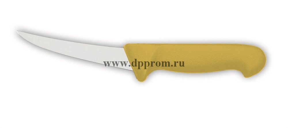 Нож обвалочный 2515 15 см, жёсткий желтый