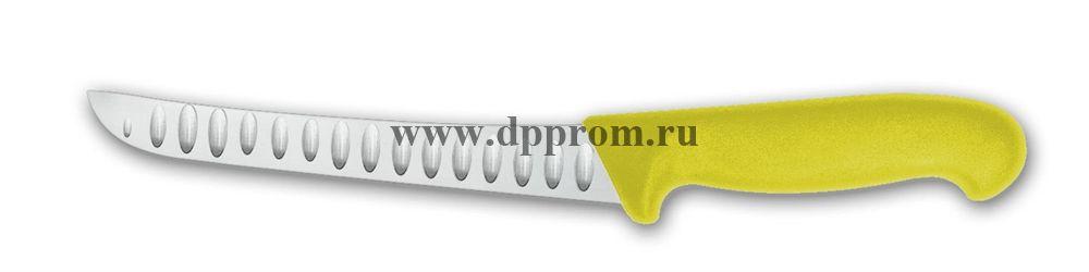 Нож обвалочный 2605wwl 15 см желтый лезвие с желобками