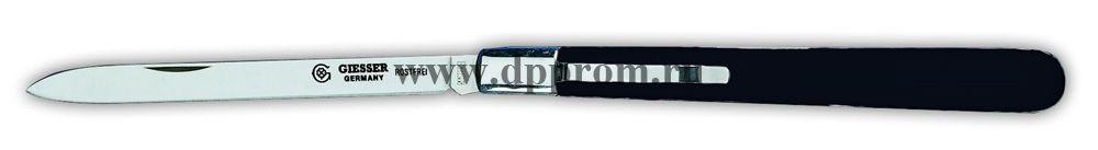 Нож технолога с вилкой и клипсой 7981сsp черный