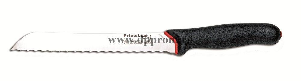 Нож для хлеба Prime Line 218355 w10 21 см с волнистым лезвием черный