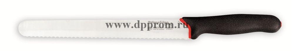 Нож разделочный Prime Line 217705 w 31 см, волнистое лезвие черный