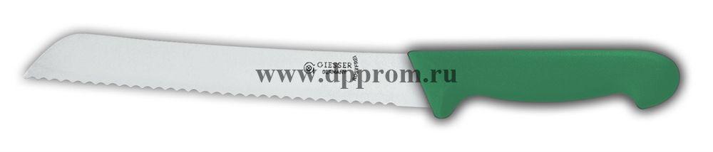 Нож для хлеба 8355 w 21 см с волнистым лезвием зеленый