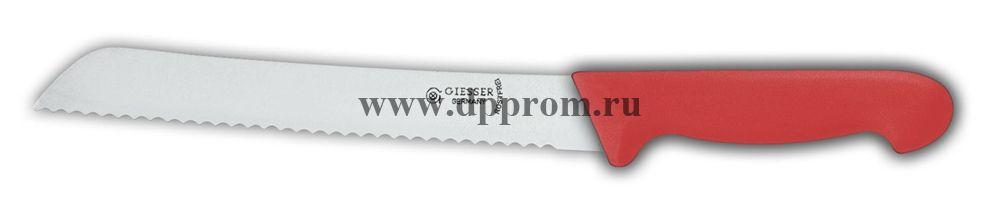 Нож для хлеба 8355 w 21 см с волнистым лезвием красный