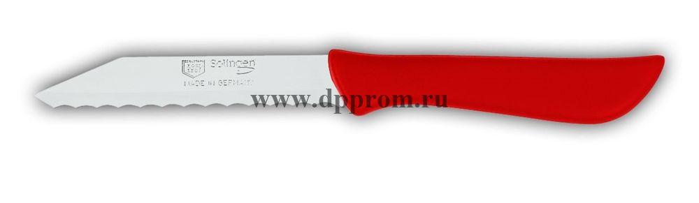 Нож для булочек 8307wsp 8 см, волнистое лезвие красный