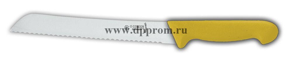 Нож для хлеба 8355 w 21 см с волнистым лезвием желтый