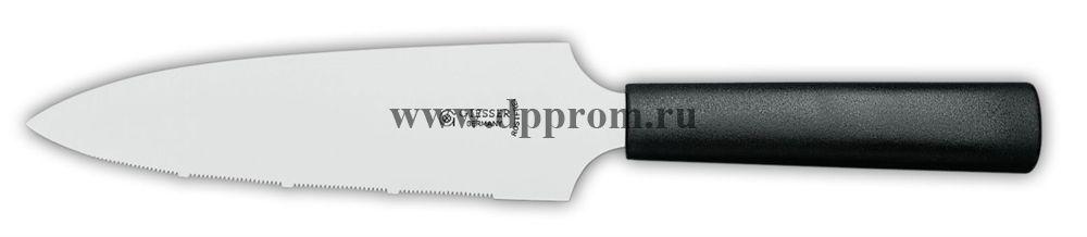 Нож для торта 8165z-16, серрейторная заточка, черный