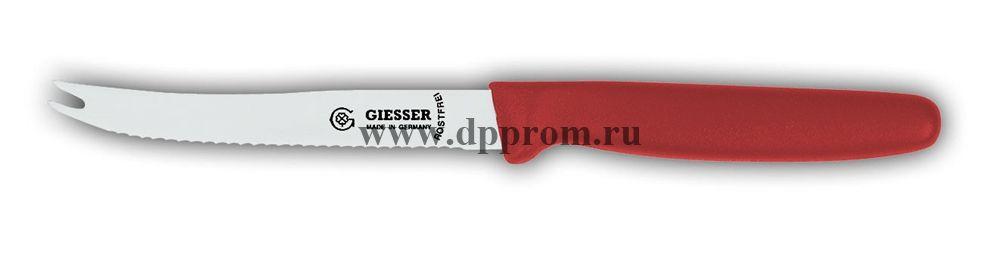 Нож для помидоров с зубцами 8366wsp 11 см, волнистое лезвие красный