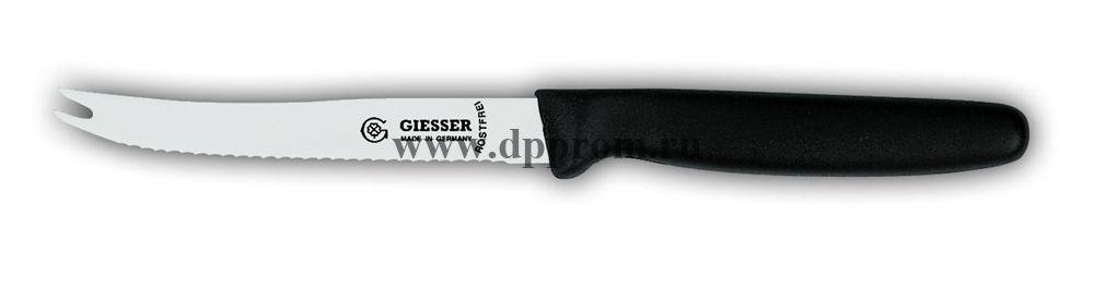 Нож для помидоров с зубцами 8366wsp 11 см, волнистое лезвие черный