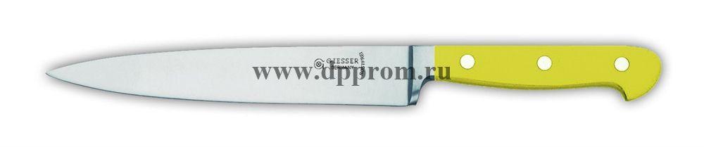 Нож поварской 8270 18 см, узкий желтый