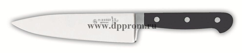 Нож поварской 8280 15 см, широкий черный