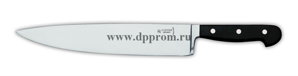 Нож поварской 8280 25 см, широкий черный
