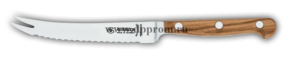 Нож поварской для помидоров 8244 13o см, узкий с деревянной ручкой