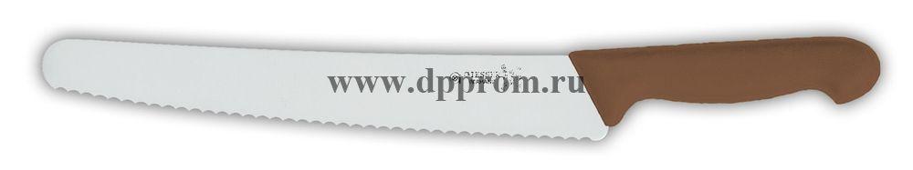 Нож универсальный 8265w 25 см, волнистое лезвие коричневый