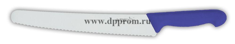 Нож универсальный 8265w 25 см, волнистое лезвие синий
