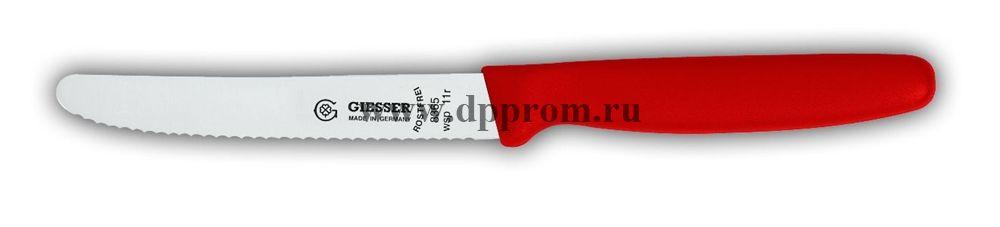Нож универсальный 8365wsp 11 см, волнистое лезвие красный