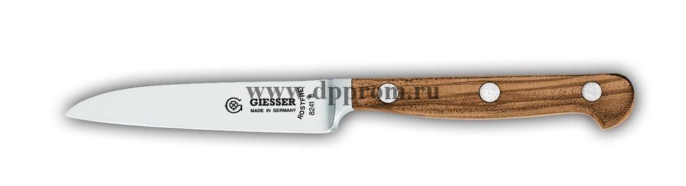 Нож поварской 8241 8 см, узкий с деревянной ручкой