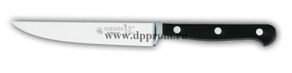 Нож поварской 8242 12 см, узкий черный