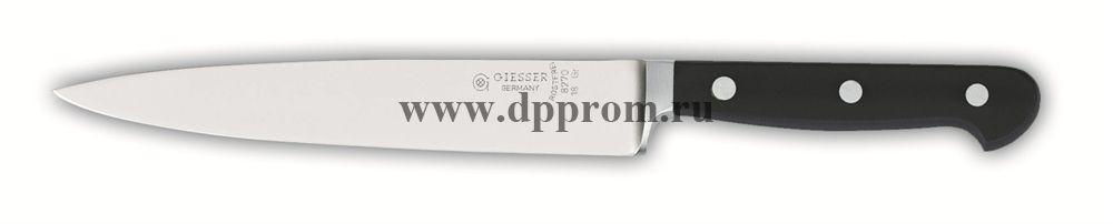 Нож поварской 8270 18 см, узкий черный