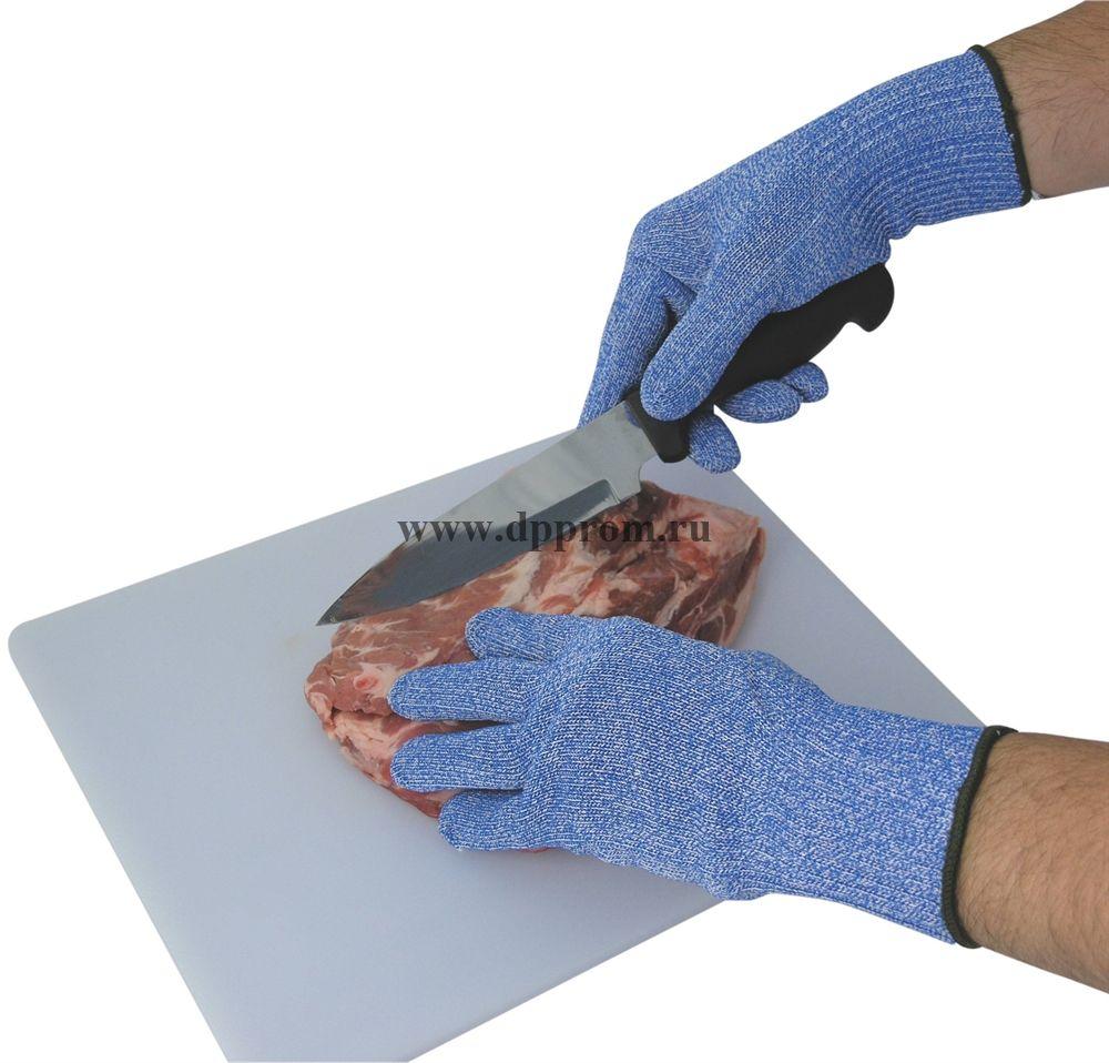 Перчатка нитяная с кевларом синяя M