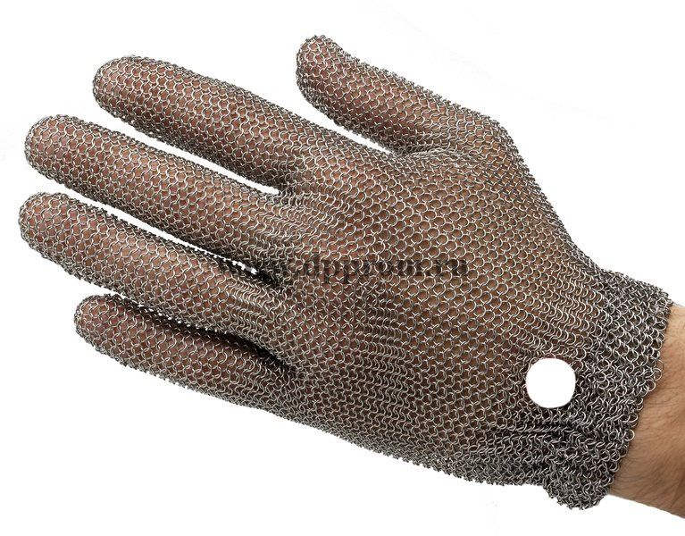 Перчатки кольчужные с метал. резинкой белые WILCO S