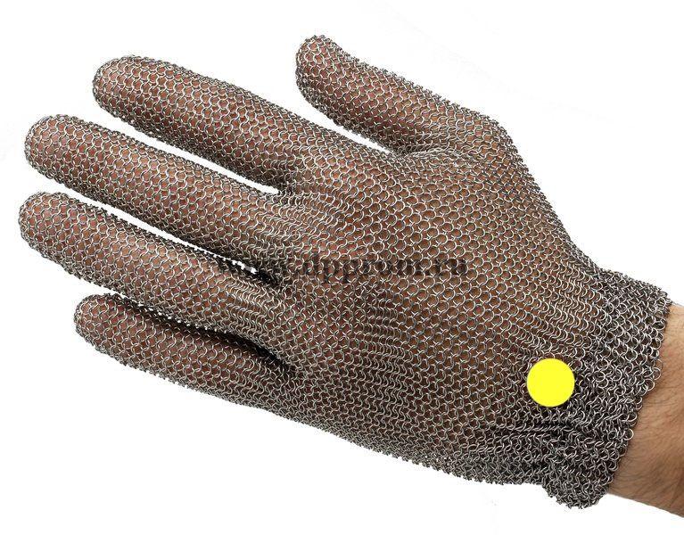 Перчатки кольчужные с метал. резинкой желтые WILCO ХL