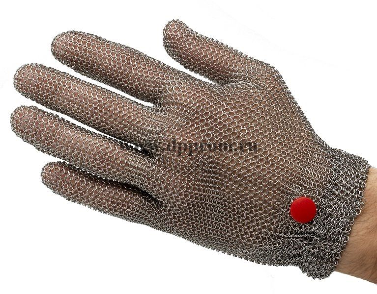 Перчатки кольчужные с метал. резинкой красные WILCO M