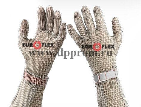 Перчатки кольчужные с полиэстер. ремешком бел. Euroflex Comfort 9590-2-08