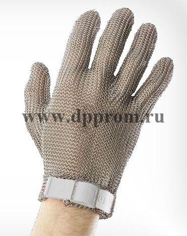 Перчатки кольчужные с полиэстер. ремешком бел. Euroflex Comfort 9590-2r