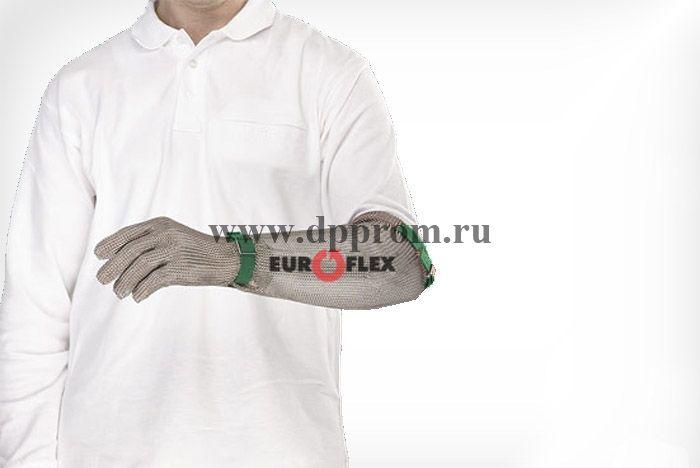 Перчатки кольчужные с полиэстер. ремешком зел. Euroflex Comfort 9590-1-30