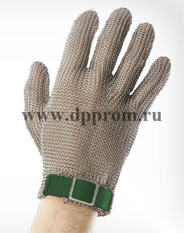 Перчатки кольчужные с полиэстер. ремешком зел. Euroflex Comfort 9590-1r