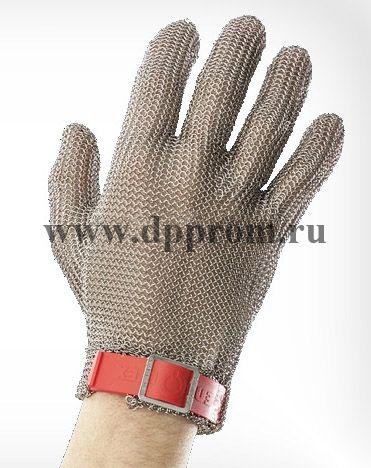 Перчатки кольчужные с полиэстер. ремешком красн. Euroflex Comfort 9590-3r