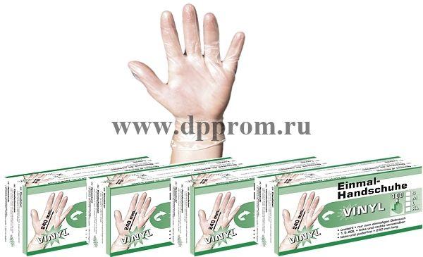 Виниловые перчатки S/M/L/XL