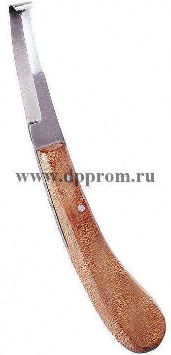 Нож копытный обоюдоострый, широкий