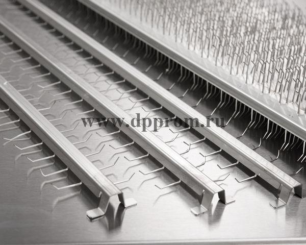 """Шампура """"Казачьи"""" - специализированные для мелкой продукции, комплект на 7 рядов, 42 шт - фото 52050"""